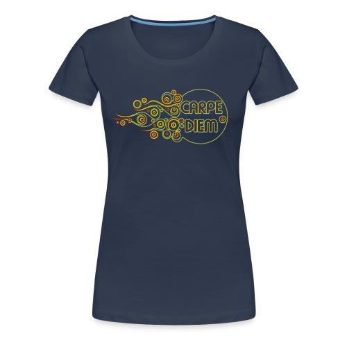 Carpe Diem - Outline Flames - Frauen Premium T-Shirt