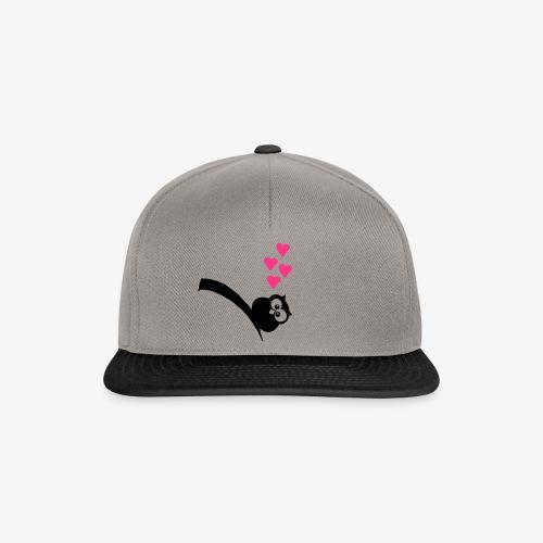 Owl elsker tyk med fedt hjerte T-shirts - Snapback Cap