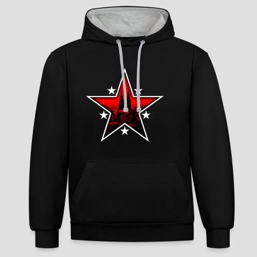 K  RedStar - Kontrast-Hoodie