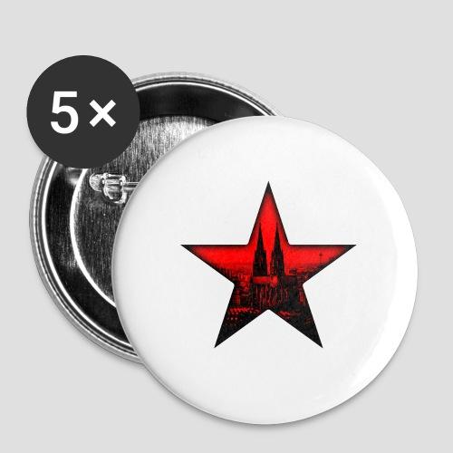 K  RedStar - Buttons groß 56 mm (5er Pack)