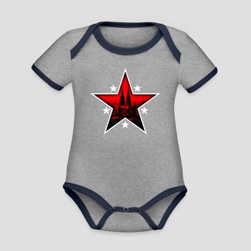 K  RedStar - Baby Bio-Kurzarm-Kontrastbody