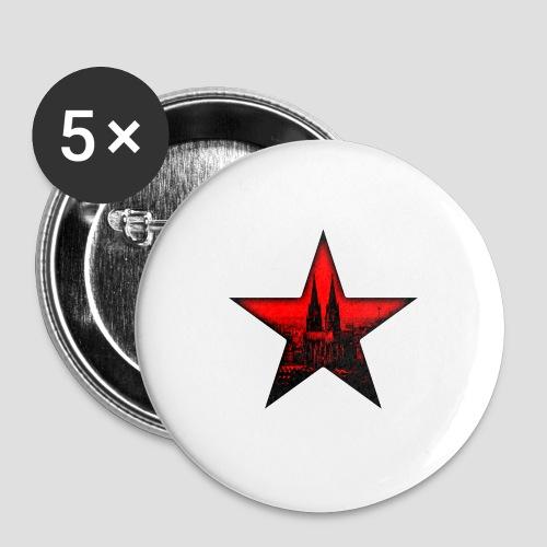 K  RedStar - Buttons mittel 32 mm (5er Pack)