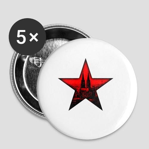 K  RedStar - Buttons klein 25 mm (5er Pack)