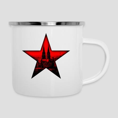 K  RedStar - Emaille-Tasse