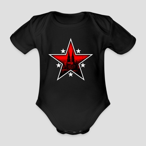 K  RedStar - Baby Bio-Kurzarm-Body