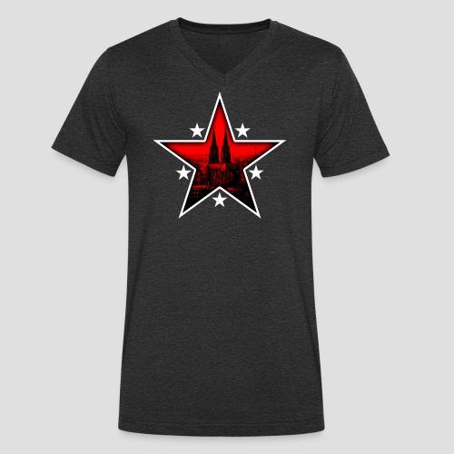 K  RedStar - Männer Bio-T-Shirt mit V-Ausschnitt von Stanley & Stella