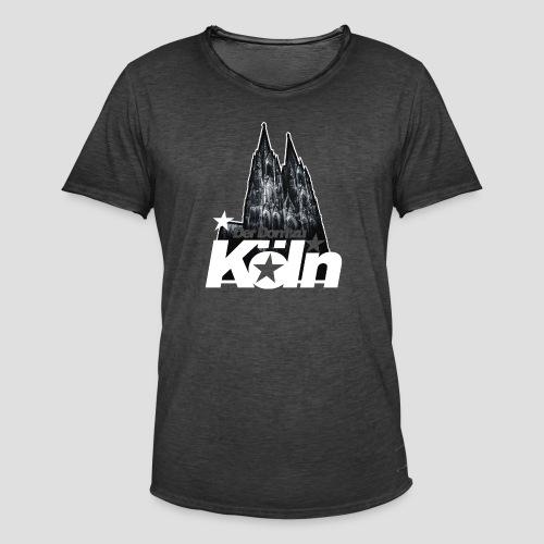 Der Dom zu Köln - Männer Vintage T-Shirt
