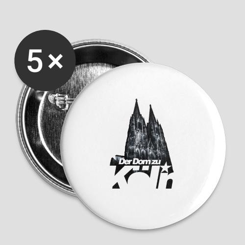 Der Dom zu Köln - Buttons mittel 32 mm (5er Pack)