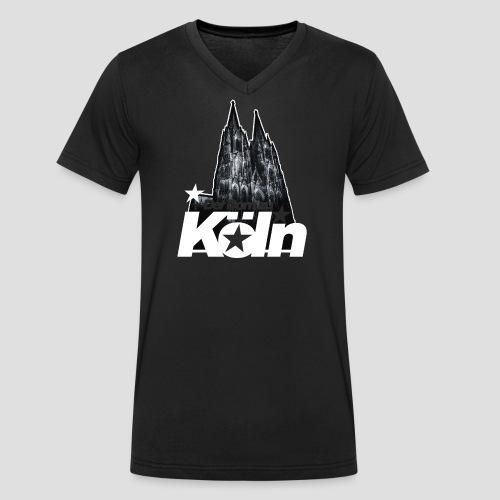 Der Dom zu Köln - Männer Bio-T-Shirt mit V-Ausschnitt von Stanley & Stella