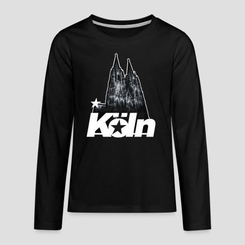 Der Dom zu Köln - Teenager Premium Langarmshirt