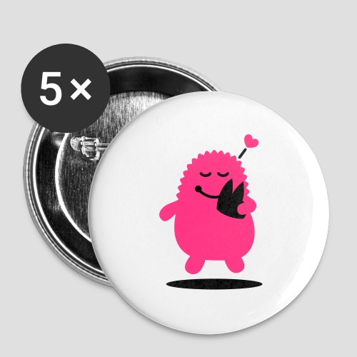 Das Dom Monster - Buttons groß 56 mm (5er Pack)