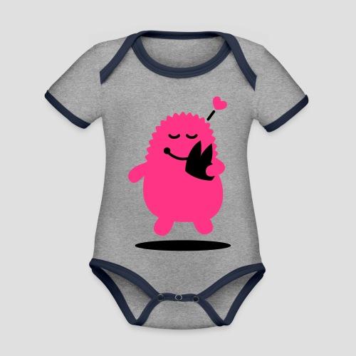 Das Dom Monster - Baby Bio-Kurzarm-Kontrastbody
