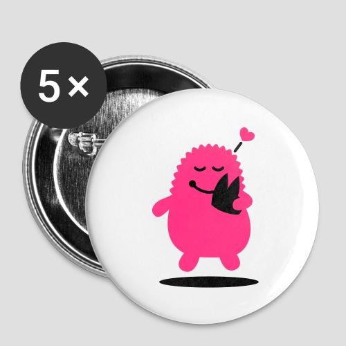 Das Dom Monster - Buttons klein 25 mm (5er Pack)