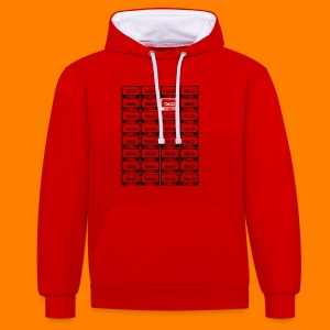 32 cassettes - Girlie shirt - Contrast Colour Hoodie