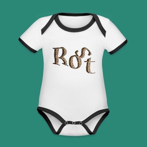 ROST T-SHIRT - Baby Bio-Kurzarm-Kontrastbody