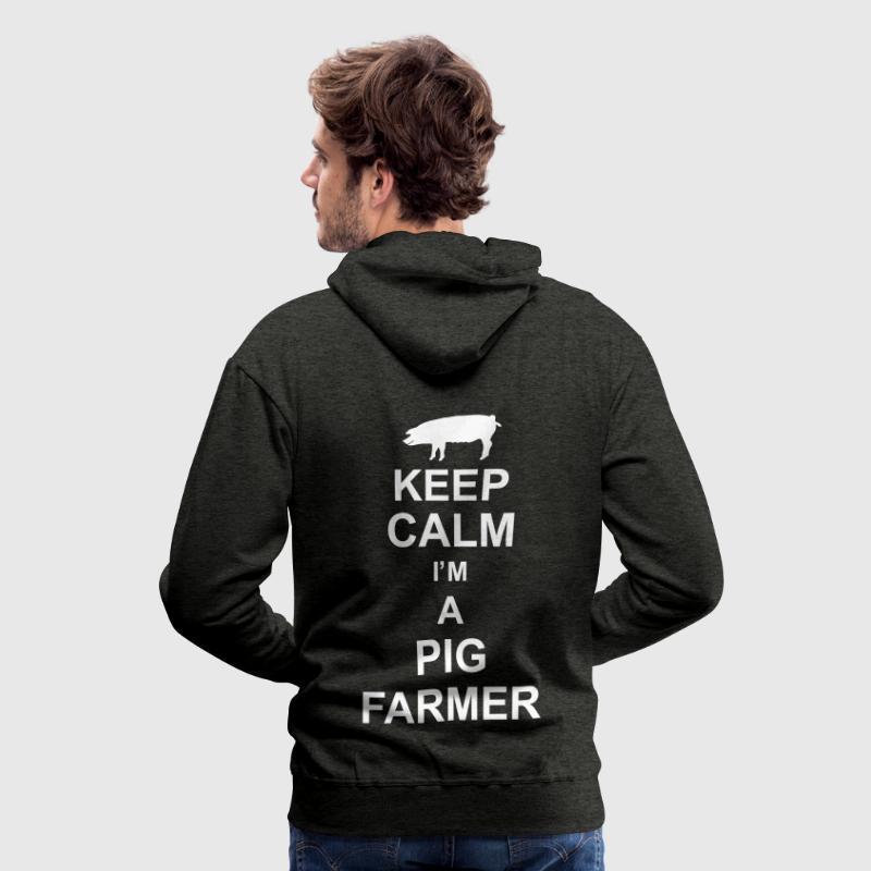 keep_calm_im_a_pig_farmer_g1 Gensere - Premium hettegenser for menn