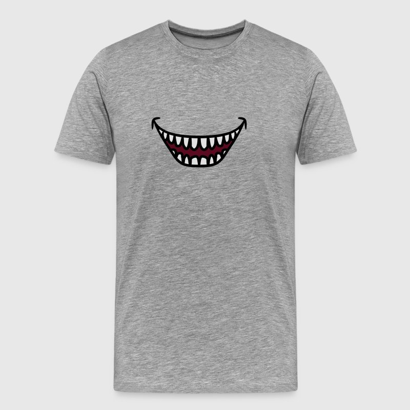 Ugly grinning laughing Monster mouth T-Shirts - Men's Premium T-Shirt