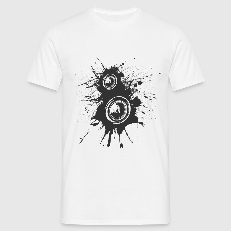 White Speaker Splatter DJ Men's T-Shirts - Men's T-Shirt