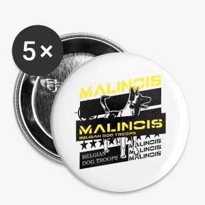 Malinois Dog Troops T-Shirts - Buttons klein 25 mm