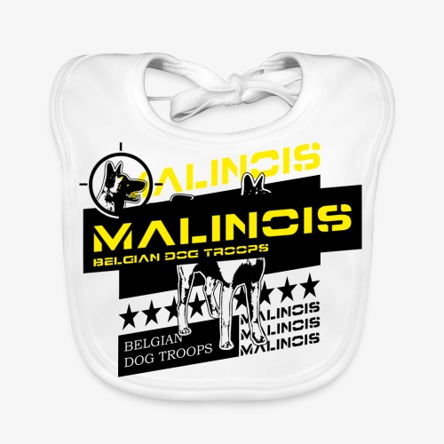 Malinois Dog Troops T-Shirts - Baby Bio-Lätzchen