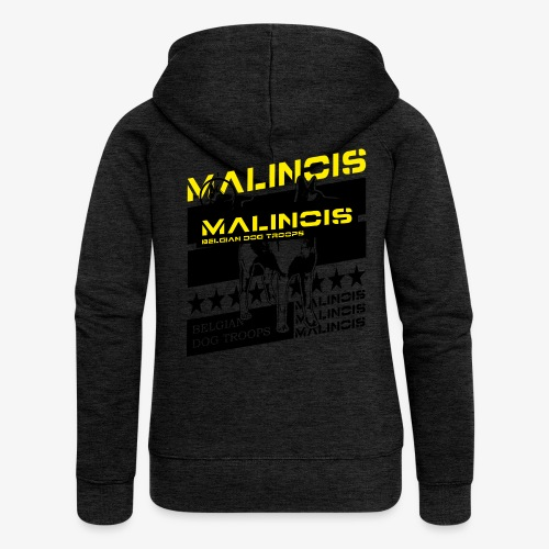Malinois Dog Troops T-Shirts - Frauen Premium Kapuzenjacke