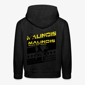 Malinois Dog Troops T-Shirts - Kinder Premium Hoodie