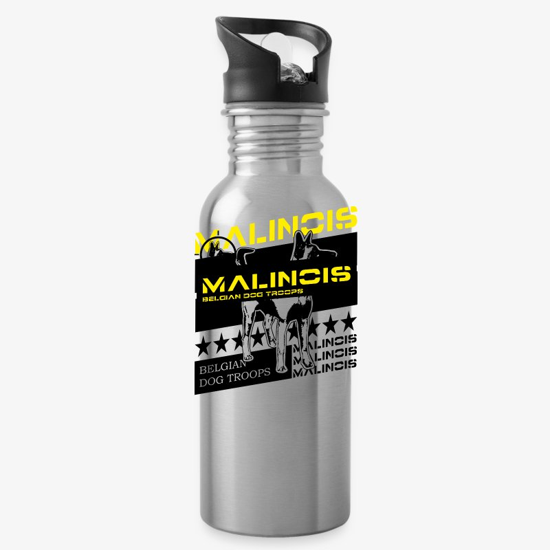 Malinois Dog Troops T-Shirts - Trinkflasche