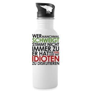 Einstein Zitat - Trinkflasche