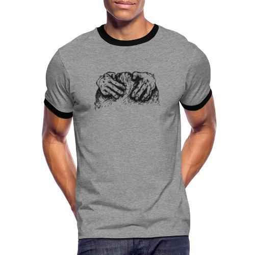 Kletterhände - Männer Kontrast-T-Shirt