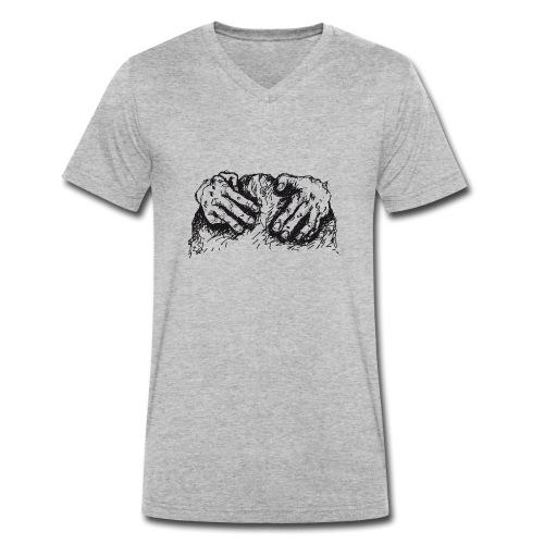 Kletterhände - Männer Bio-T-Shirt mit V-Ausschnitt von Stanley & Stella