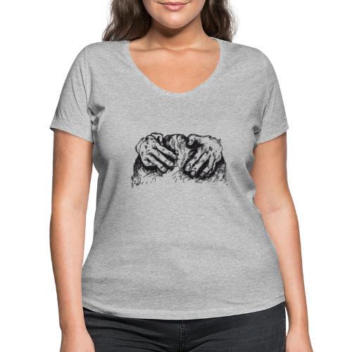 Kletterhände - Frauen Bio-T-Shirt mit V-Ausschnitt von Stanley & Stella