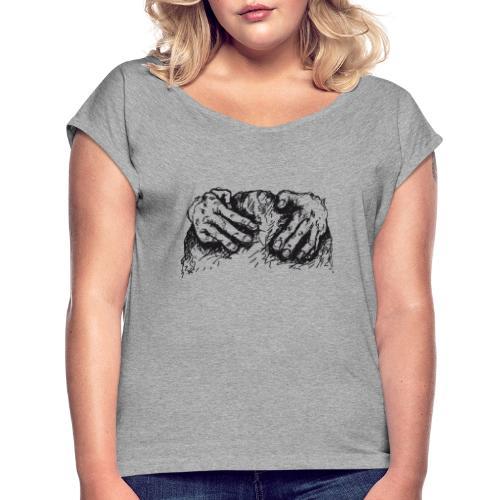 Kletterhände - Frauen T-Shirt mit gerollten Ärmeln