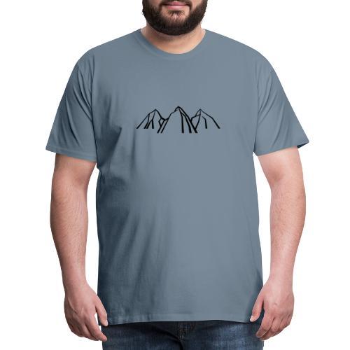 Gebirge - Männer Premium T-Shirt