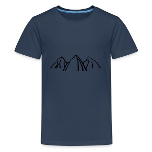 Gebirge - Teenager Premium T-Shirt