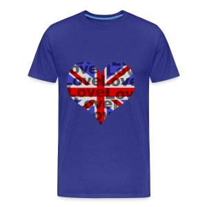 English Heart & Love - Männer Premium T-Shirt