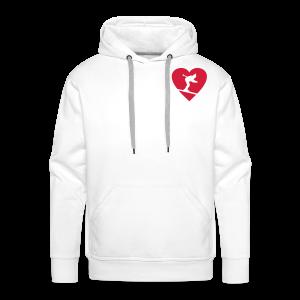 I love Skiing Skifahrer T-Shirt (Weiß/Herren) - Männer Premium Hoodie