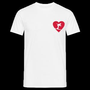 I love Skiing Skifahrer T-Shirt (Weiß/Herren) - Männer T-Shirt