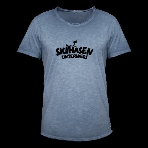 Skihasen unterwegs Funktionsshirt - Männer Vintage T-Shirt
