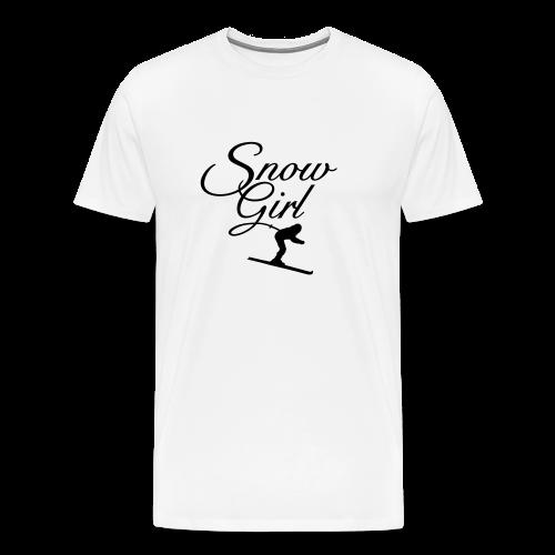 Snowgirl Classic Skier Gold Funktionsshirt - Männer Premium T-Shirt