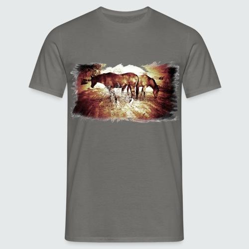 M-151-Horses - Männer T-Shirt