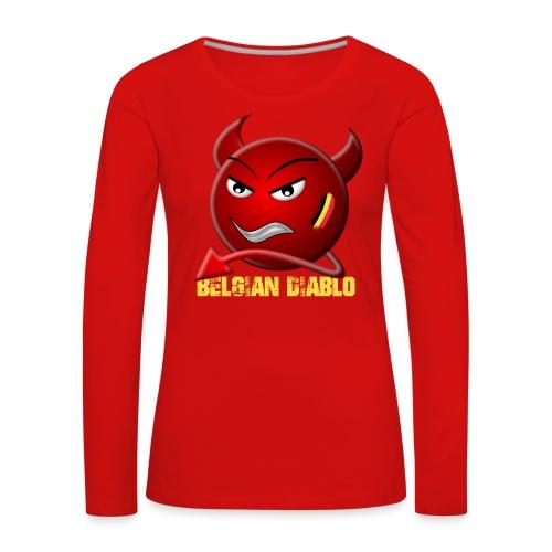 BELGIAN-DIABLO - T-shirt manches longues Premium Femme