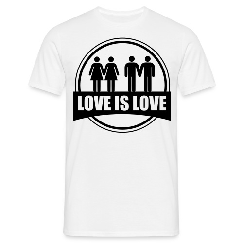 Love is Love Gay & Lesbian - T-shirt Homme