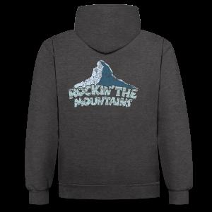 Rockin' the Mountains (Vintage/Hell) S-5XL T-Shirt - Kontrast-Hoodie