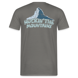 Rockin' the Mountains (Vintage/Hell) S-5XL T-Shirt - Männer T-Shirt