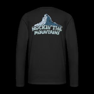 Rockin' the Mountains (Vintage/Hell) S-5XL T-Shirt - Männer Premium Langarmshirt