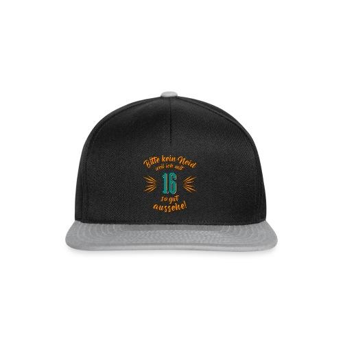 Geburtstag 16 - Bitte kein Neid petrol - Rahmenlos T Shirt Geschenk - Snapback Cap