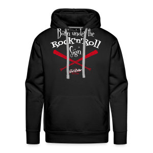 Born under tthe Rock'n'Roll sign - Sweat-shirt à capuche Premium pour hommes