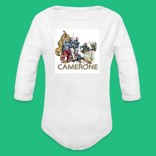 CAMERONE combat - Body bébé bio manches longues