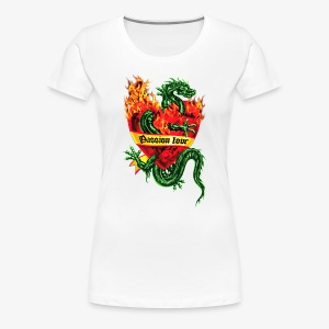 Passion Love - Tatoo Drache / Herz Flammen / Dragon in the Fire Heart Tattoo Männer Kapuzenpullover - Frauen Premium T-Shirt