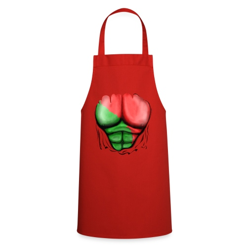 Portugal Flag Ripped Muscles, six pack, chest t-shirt - Cooking Apron